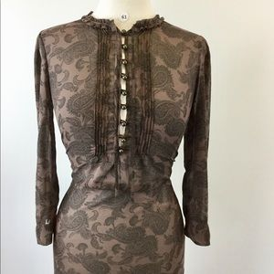 New York &Co Paisley Brown Size XS (B-61)